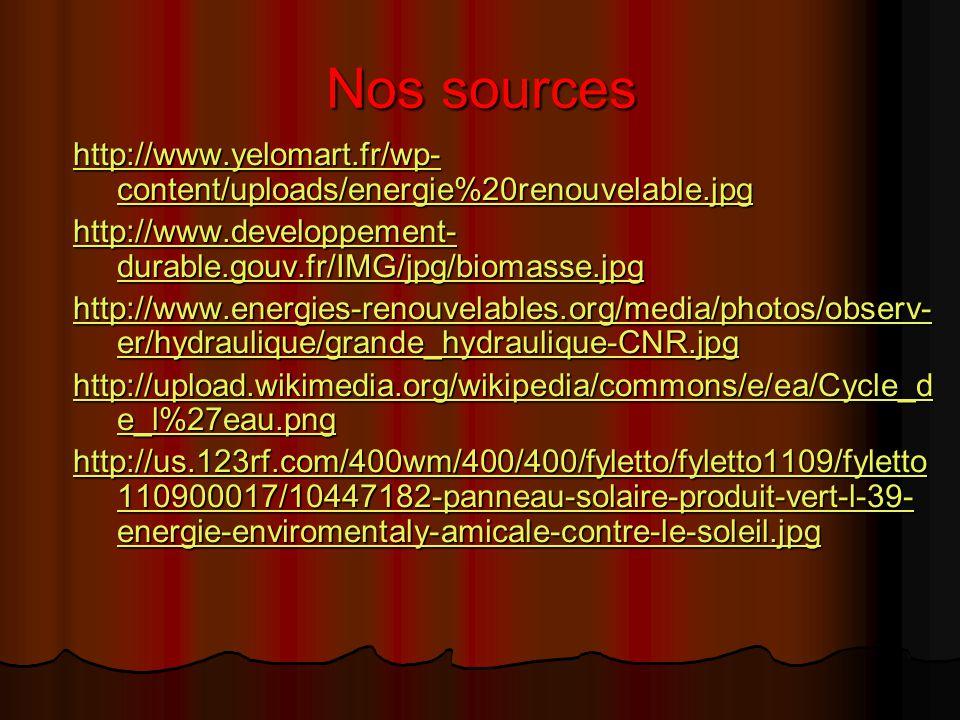 C'était l'exposé sur les énergies renouvelables Par Sylvain Et Louis