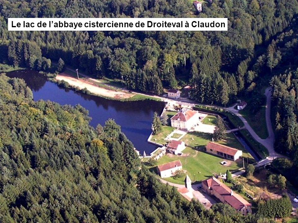 Le lac de l'abbaye cistercienne de Morimond Le lac du couvent récollet de Bulgnéville Le lac de l'abbaye cistercienne de Droiteval à Claudon