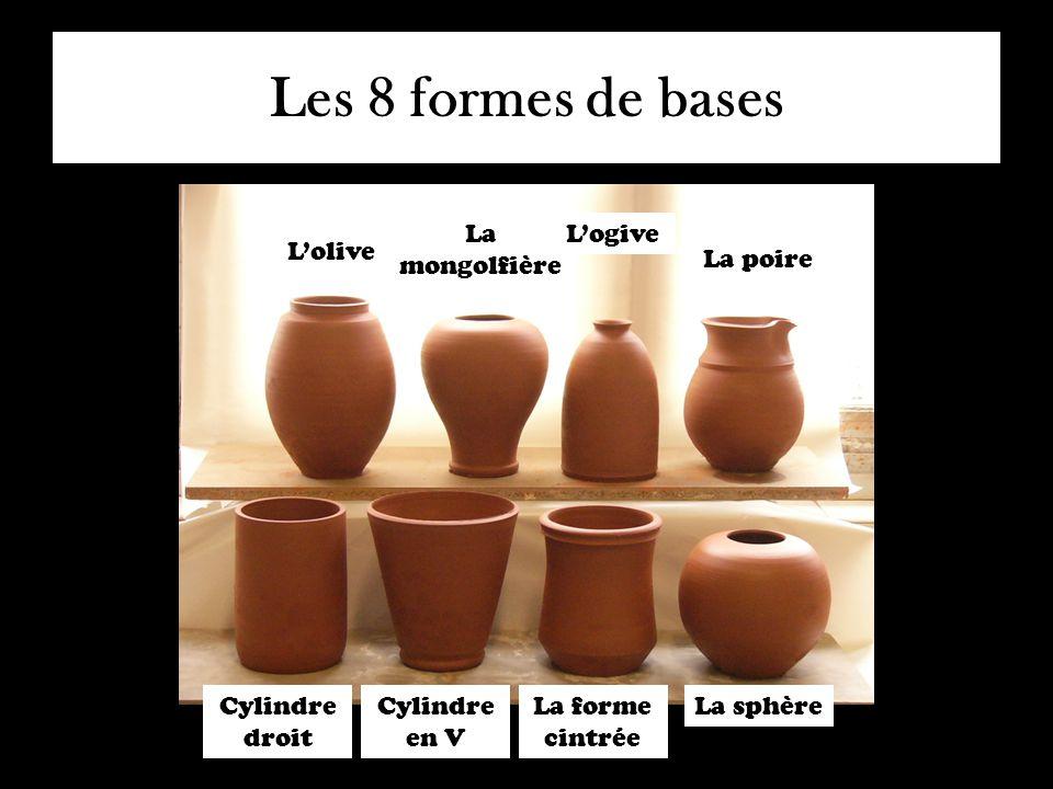 Les 8 formes de bases Cylindre droit Cylindre en V L'olive La forme cintrée La sphère La mongolfière L'ogive La poire