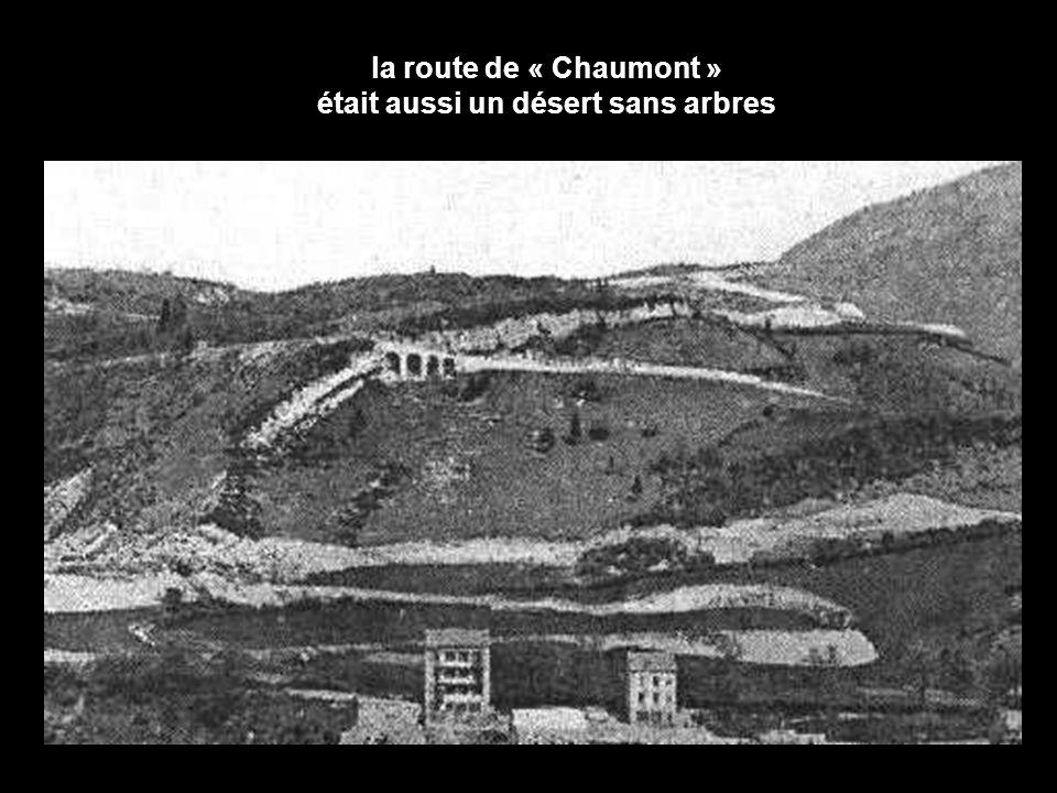la route de « Chaumont » était aussi un désert sans arbres