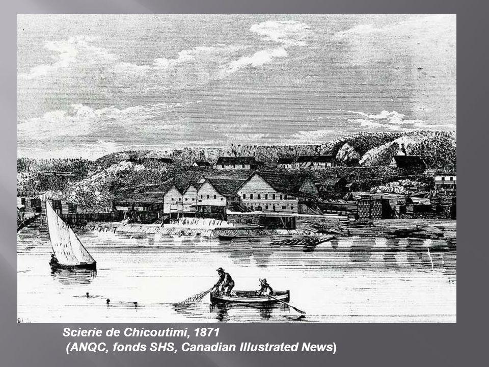 Scierie de Chicoutimi, 1871 (ANQC, fonds SHS, Canadian Illustrated News)