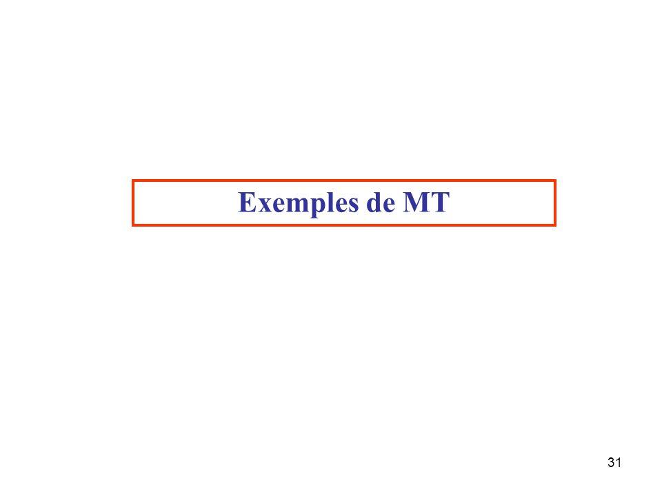 31 Exemples de MT