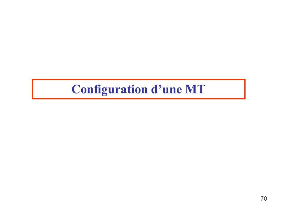 70 Configuration d'une MT