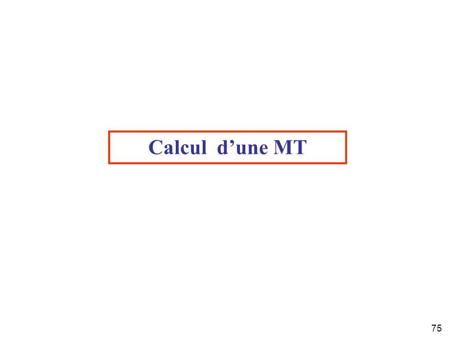 75 Calcul d'une MT