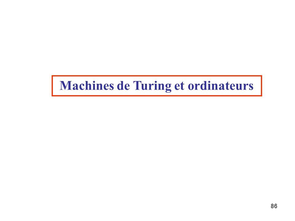 86 Machines de Turing et ordinateurs