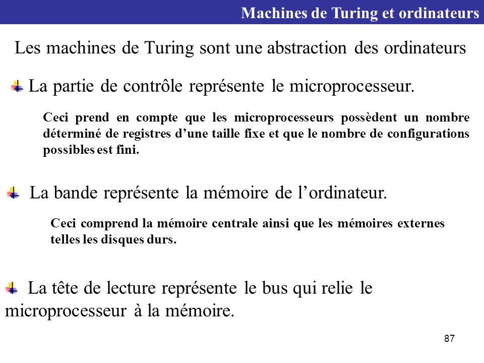 87 La partie de contrôle représente le microprocesseur.