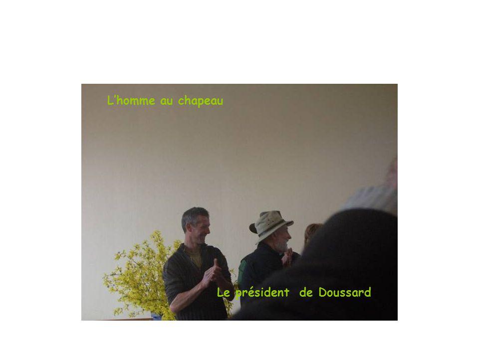 L'homme au chapeau Le président de Doussard