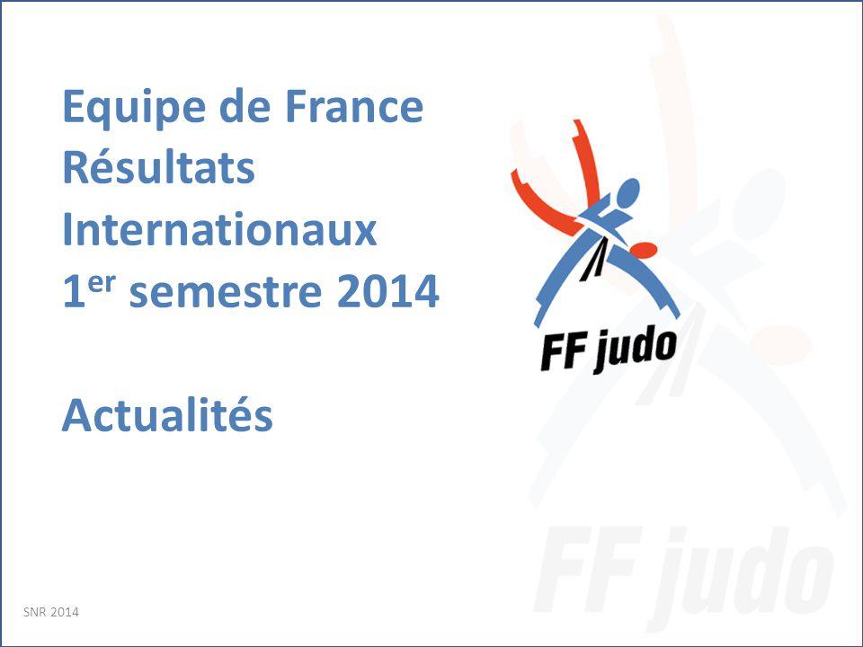 Equipe de France Résultats Internationaux 1 er semestre 2014 Actualités SNR 2014