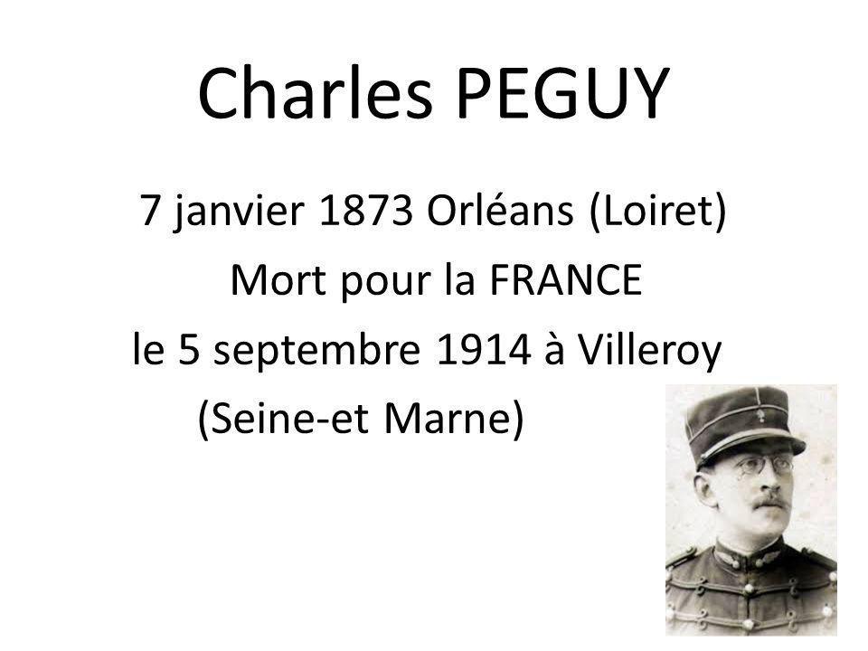 Lieutenant Charles PEGUY
