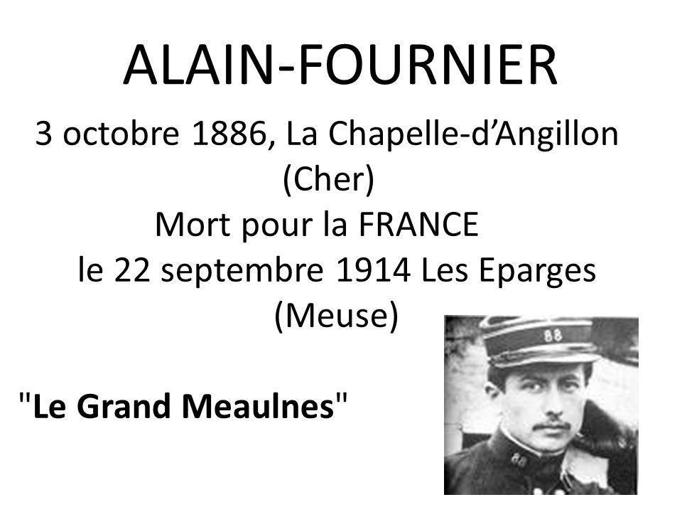 La maison natale d'ALAIN-FOURNIER à la Chapelle-d'Angillon (Cher)