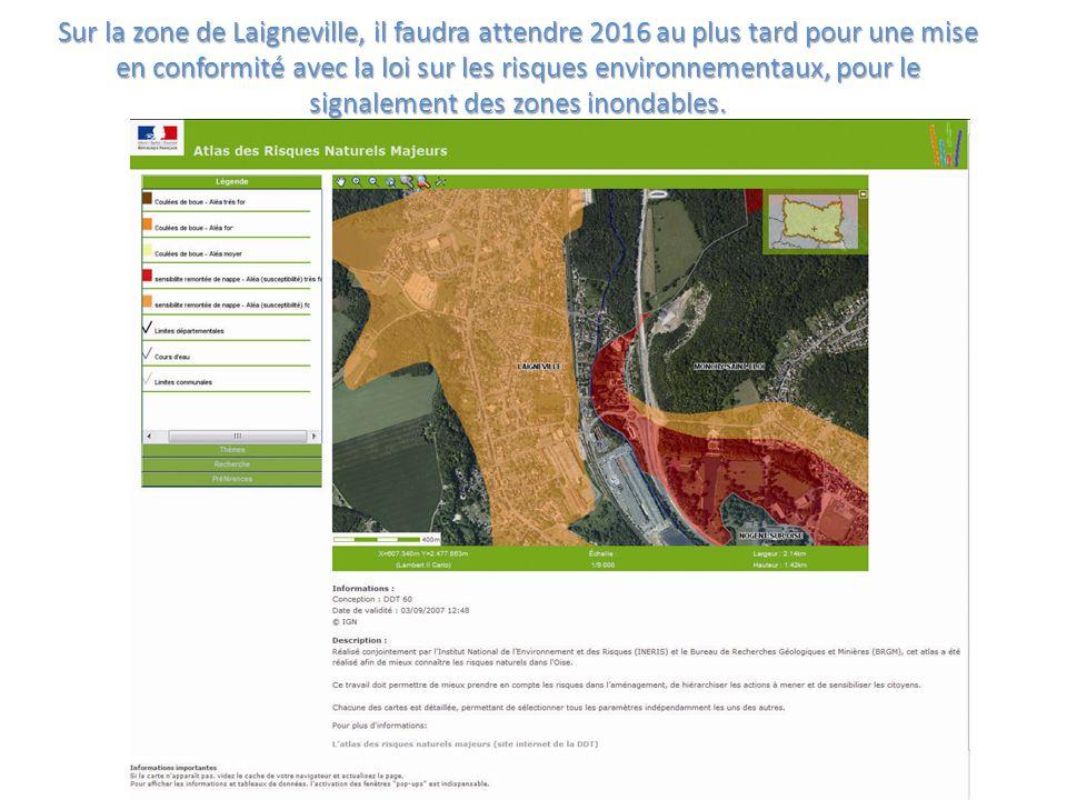 Sur la zone de Laigneville, il faudra attendre 2016 au plus tard pour une mise en conformité avec la loi sur les risques environnementaux, pour le sig