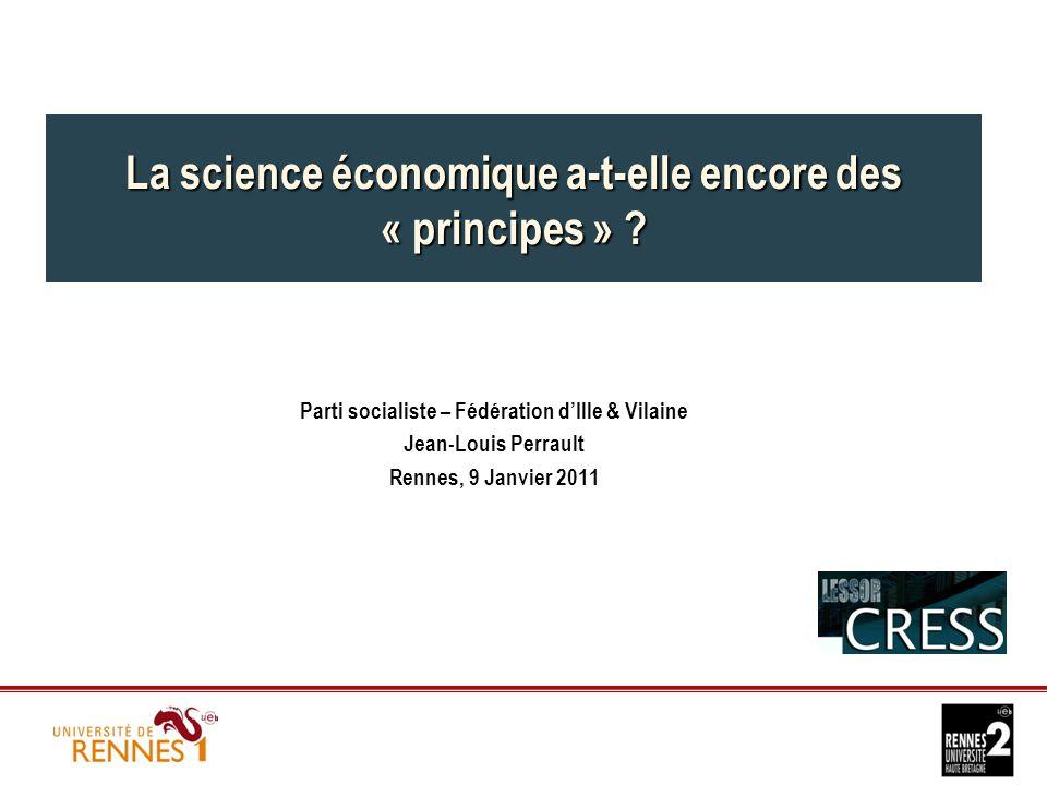La science économique a-t-elle encore des « principes » .