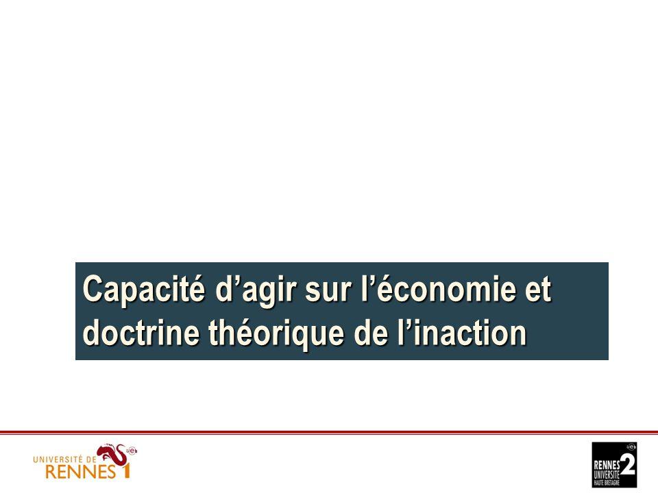 Capacité d'agir sur l'économie et doctrine théorique de l'inaction