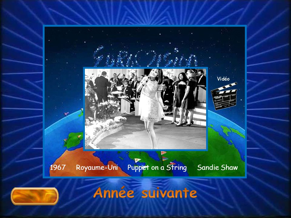 1967 Royaume-Uni Puppet on a String Sandie Shaw Vidéo