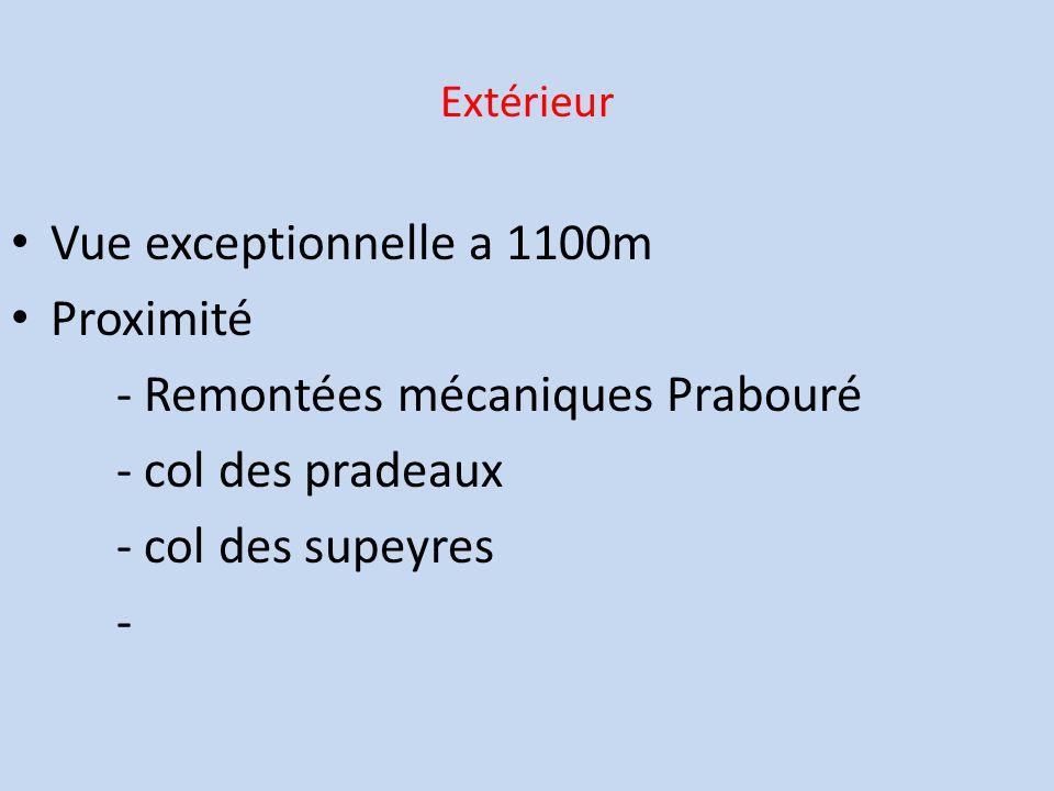 Extérieur Vue exceptionnelle a 1100m Proximité - Remontées mécaniques Prabouré - col des pradeaux - col des supeyres -