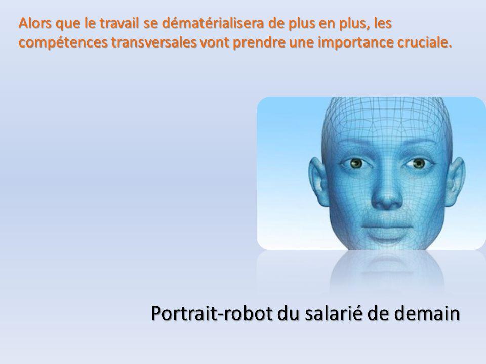 Portrait-robot du salarié de demain Alors que le travail se dématérialisera de plus en plus, les compétences transversales vont prendre une importance cruciale.