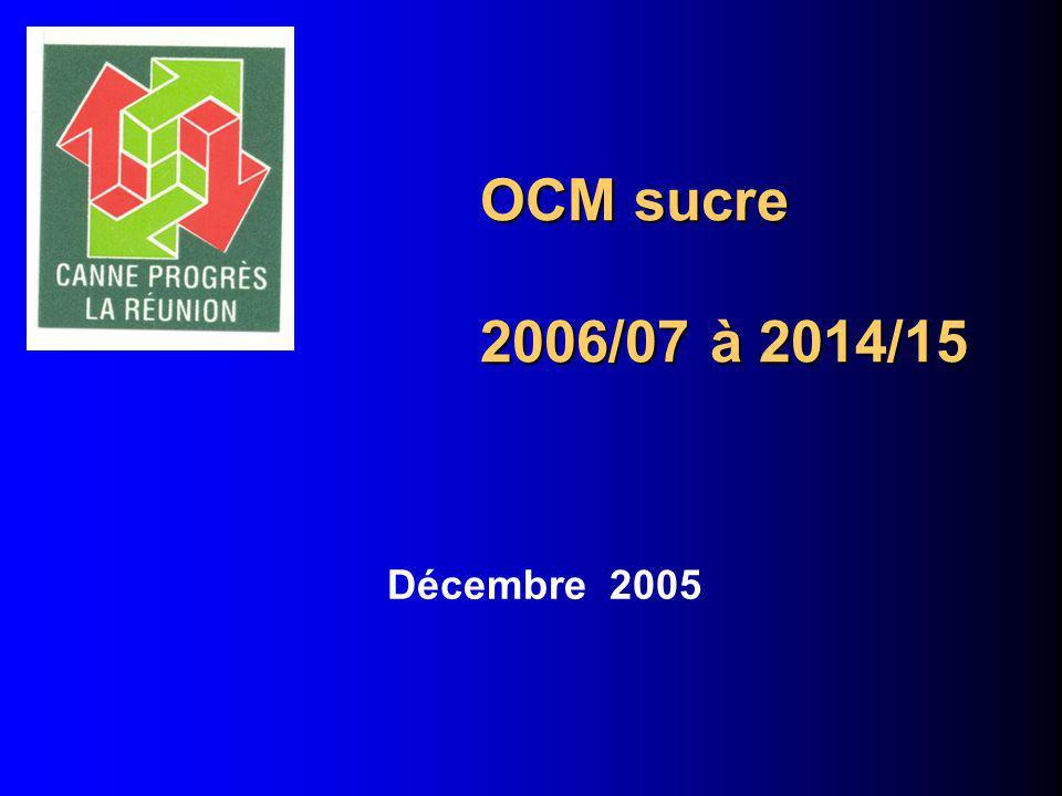 OCM sucre 2006/07 à 2014/15 Décembre 2005