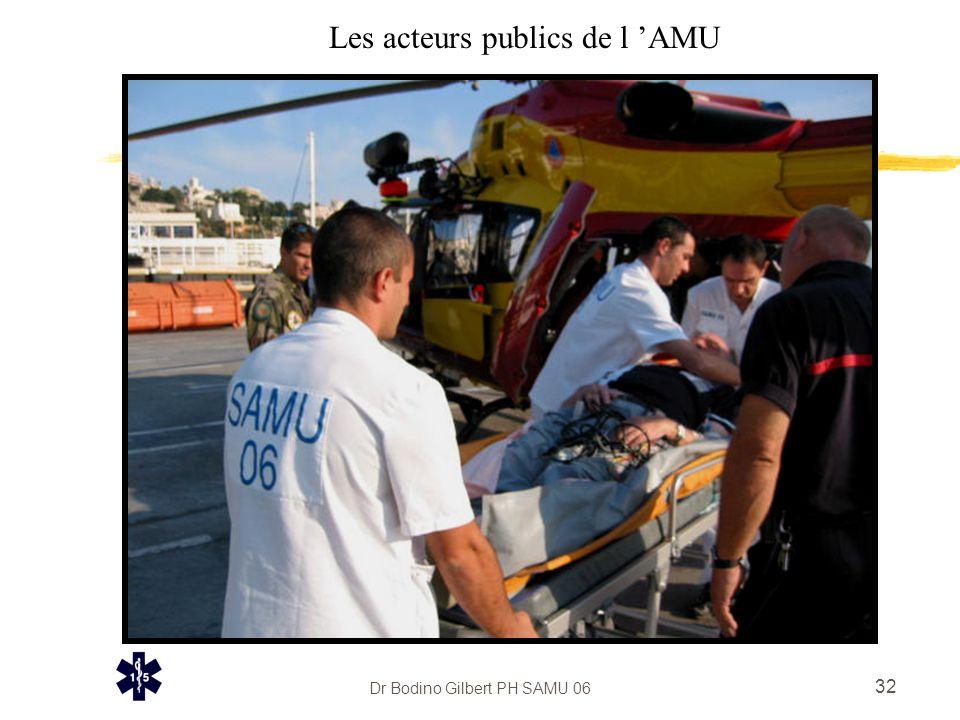 Dr Bodino Gilbert PH SAMU 06 32 Les acteurs publics de l 'AMU