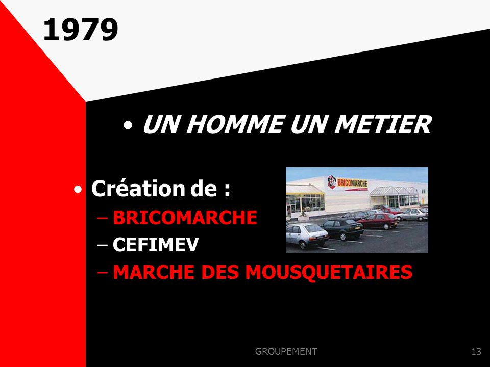 GROUPEMENT12 1975 CREATION DE LA 1ère UNITE AGRO : –ANTARTIC