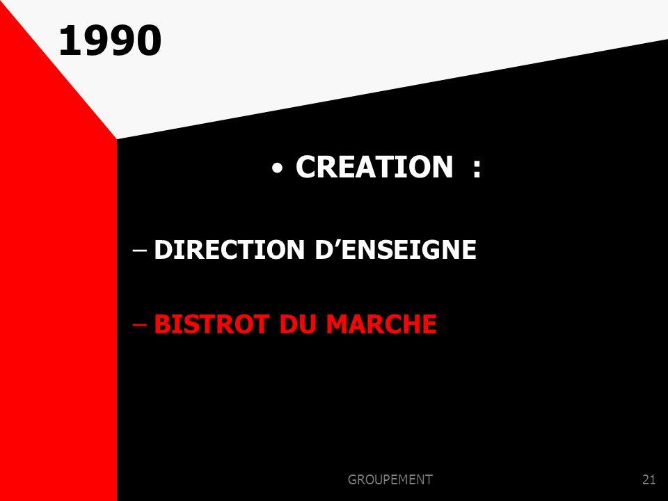GROUPEMENT20 1989 LES MOUSQUETAIRES ONT 20 ANS 1474 ADHERENTS 48000 COLLABORATEURS