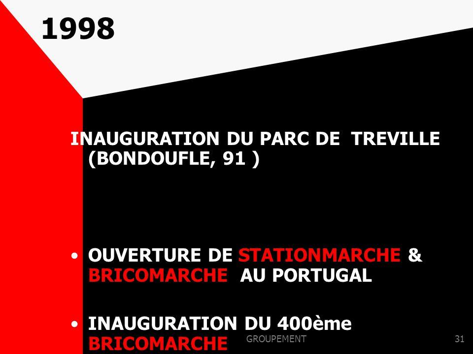 GROUPEMENT30 1997 OUVERTURE D 'INTERMARCHE MUSZKIETEROWIE EN POLOGNE OUVERTURE DU 1er BRICOMARCHE EN BELGIQUE