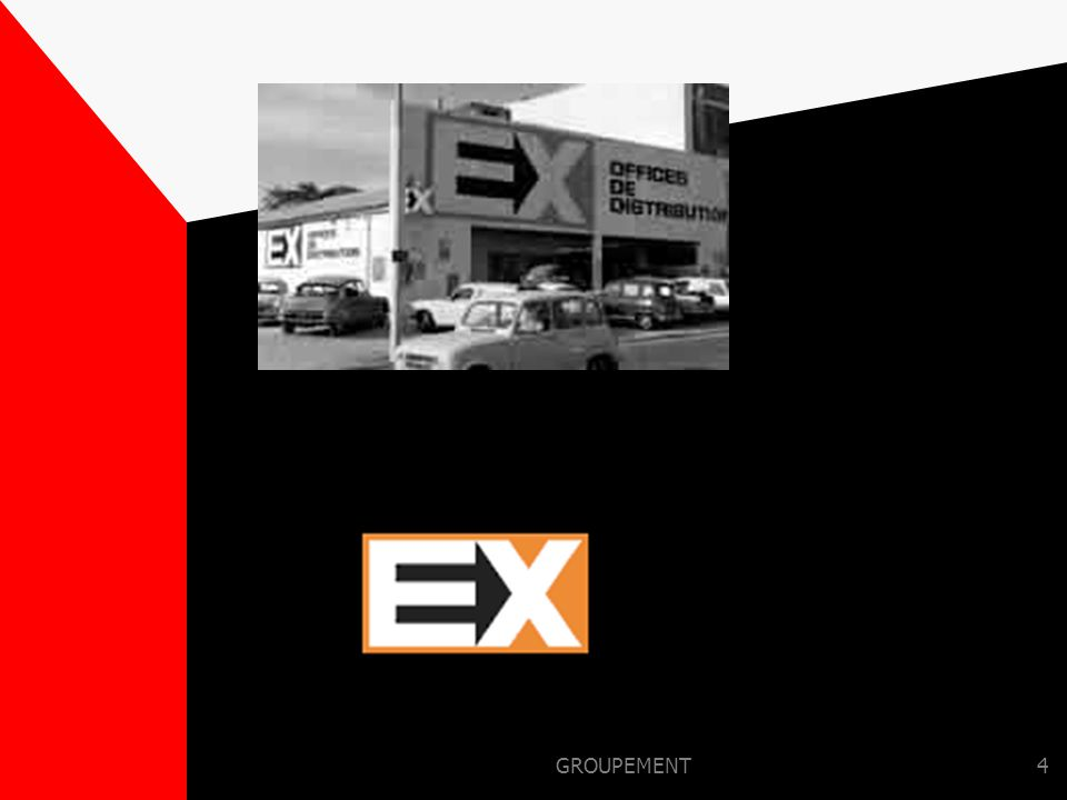GROUPEMENT3 LE 15 SEPTEMBRE 1969 Jean-Pierre LE ROCH réunit autour de lui 92 distributeurs indépendants. Ensemble, ils créent EX OFFICE DE DISTRIBUTIO
