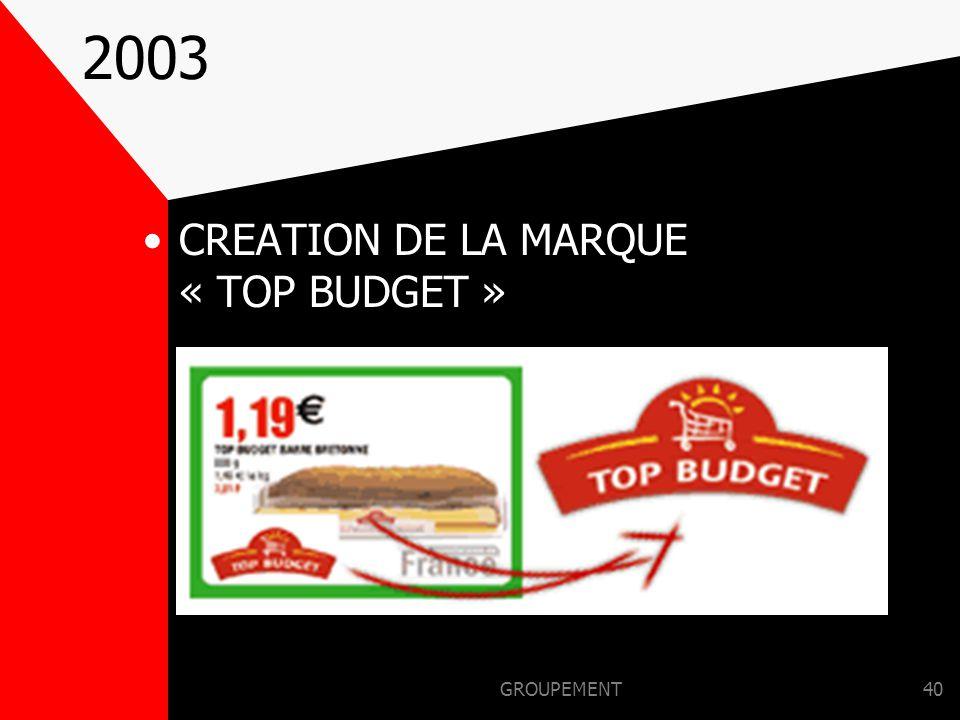 GROUPEMENT39 2002 ALLIANCE AVEC LA CENTRALE D'ACHAT BASQUE ESPAGNOLE «EROSKI »