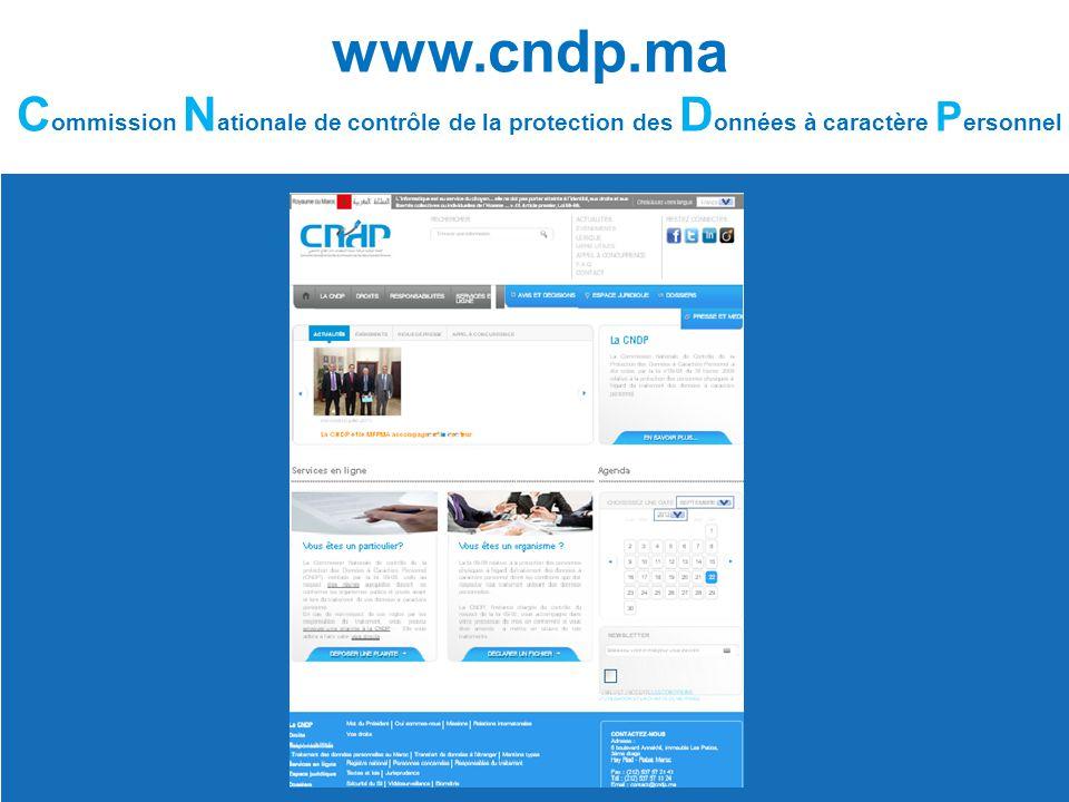 www.cndp.ma C ommission N ationale de contrôle de la protection des D onnées à caractère P ersonnel