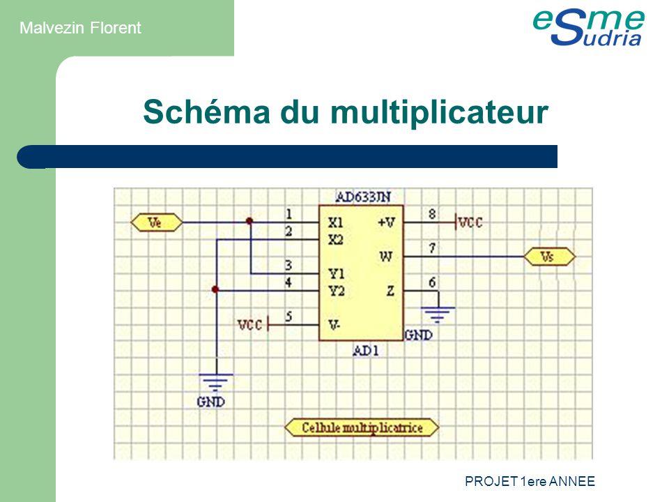PROJET 1ere ANNEE Schéma du multiplicateur Malvezin Florent