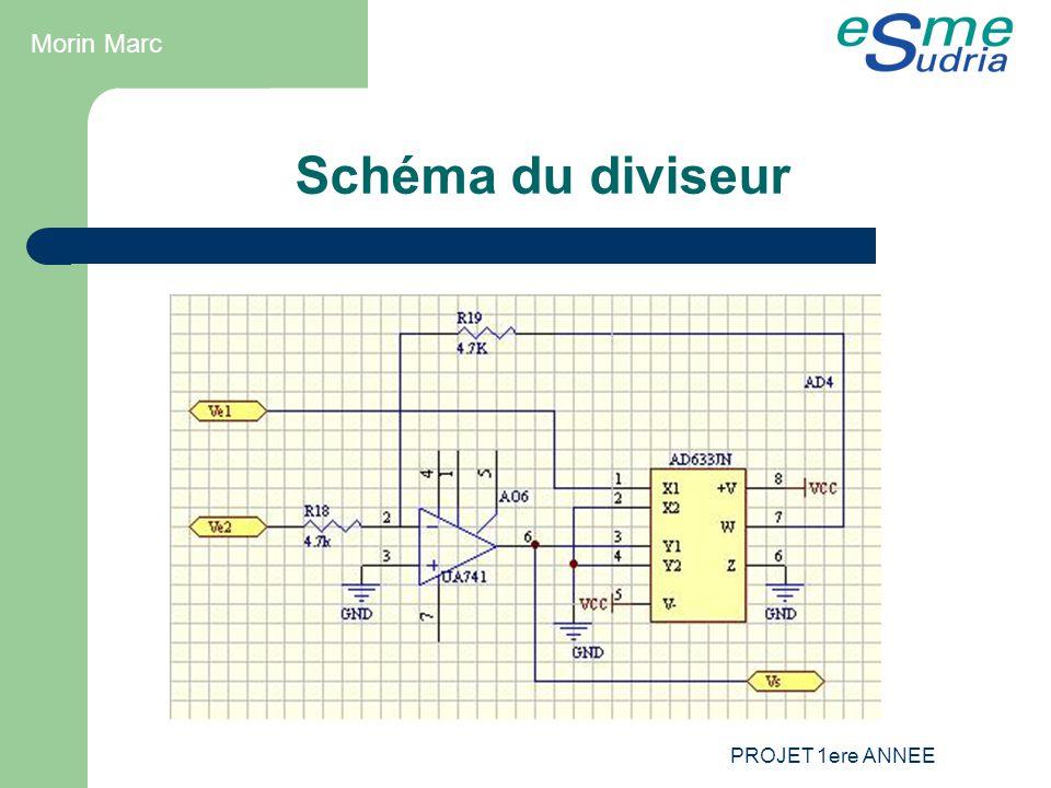 PROJET 1ere ANNEE Schéma du diviseur Morin Marc
