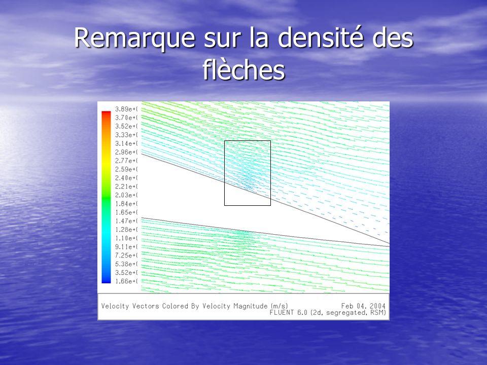Remarque sur la densité des flèches