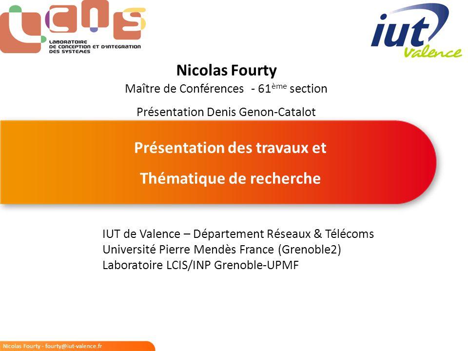 Nicolas Fourty - fourty@iut-valence.fr 2/15 Plan de la présentation 1.