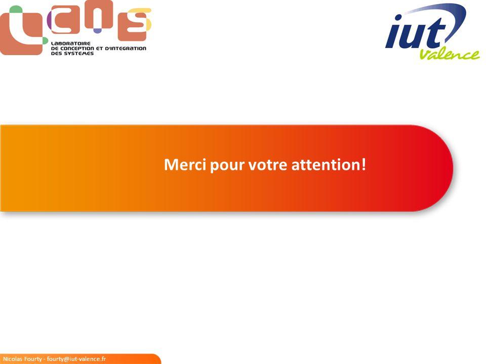 Nicolas Fourty - fourty@iut-valence.fr Merci pour votre attention!