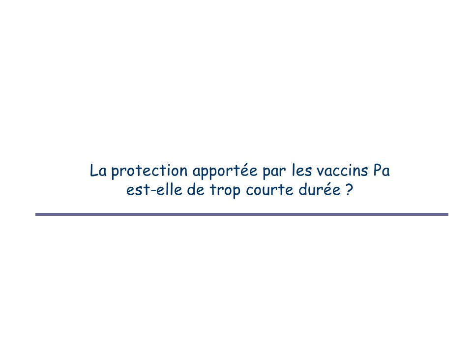 La protection apportée par les vaccins Pa est-elle de trop courte durée