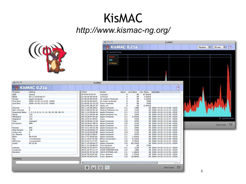 8 KisMAC http://www.kismac-ng.org/