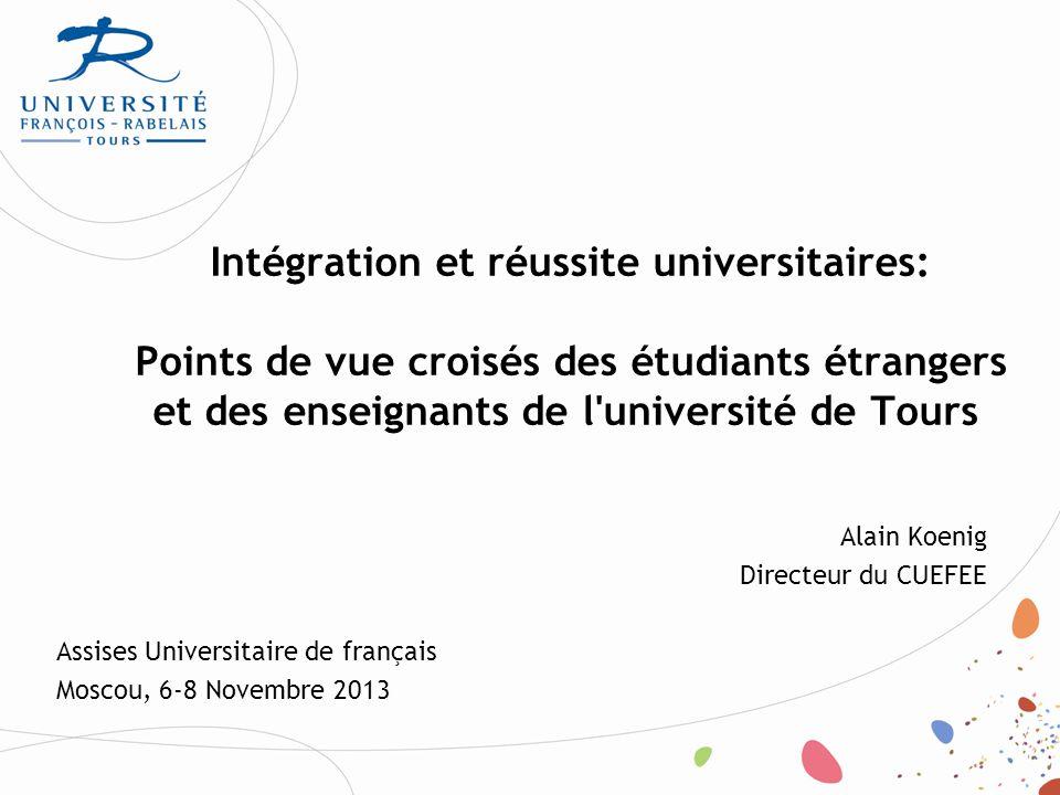 Taux de réussite des étudiants Réussite comparée des étudiants français et étrangers (année de référence 2010) RéussiteRéussite ét.