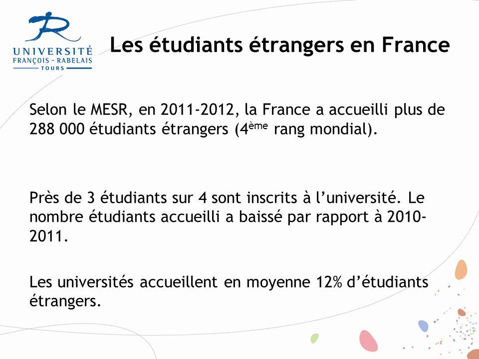 Les étudiants étrangers en France Campus France: L'essentiel des chiffres clés, juin 2013