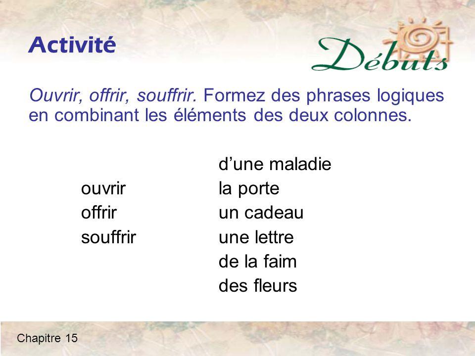 Les pronoms y et en Camille: J'ai découvert les Cévennes.