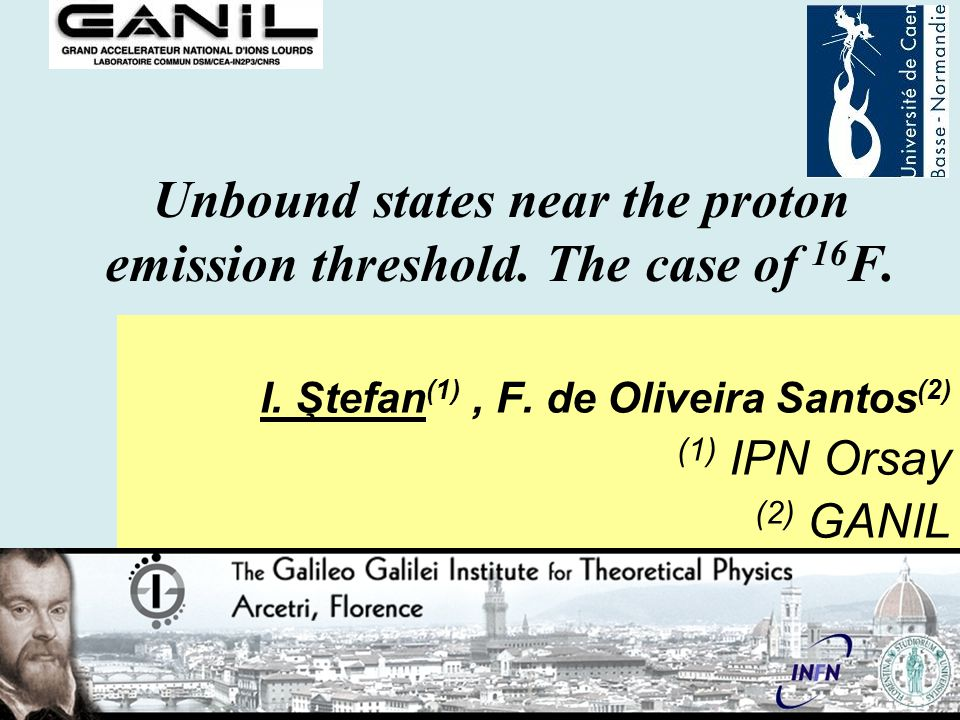 Unbound states near the proton emission threshold.