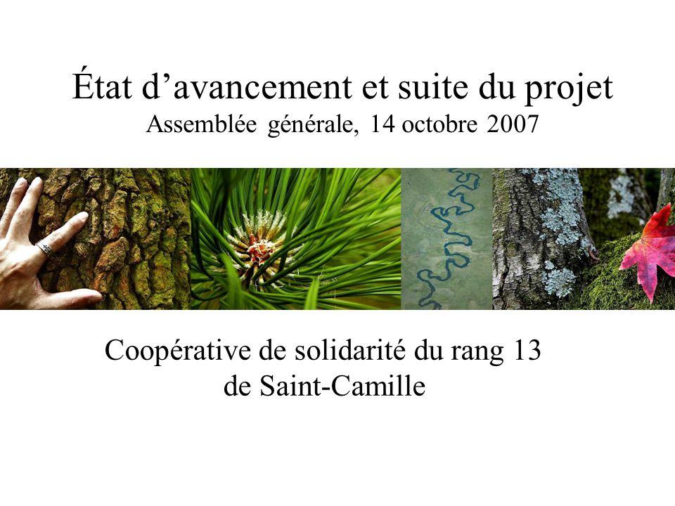 Coopérative de Solidarité du rang 13 de Saint-Camille32 Profil de nos membres  Le C.A.