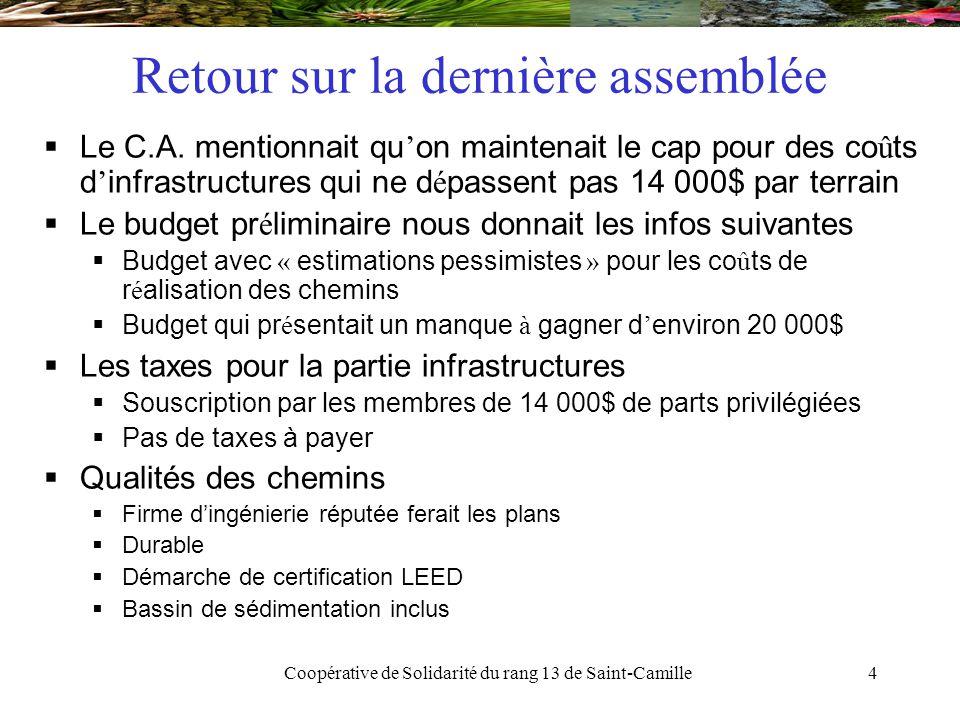 Coopérative de Solidarité du rang 13 de Saint-Camille25 Caisses d'Économie Solidaire Desjardins  Pourquoi choisir la CESD.