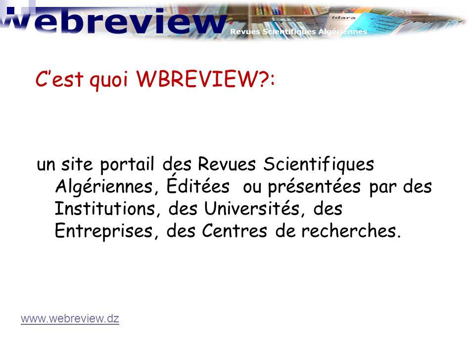 un site portail des Revues Scientifiques Algériennes, Éditées ou présentées par des Institutions, des Universités, des Entreprises, des Centres de rec