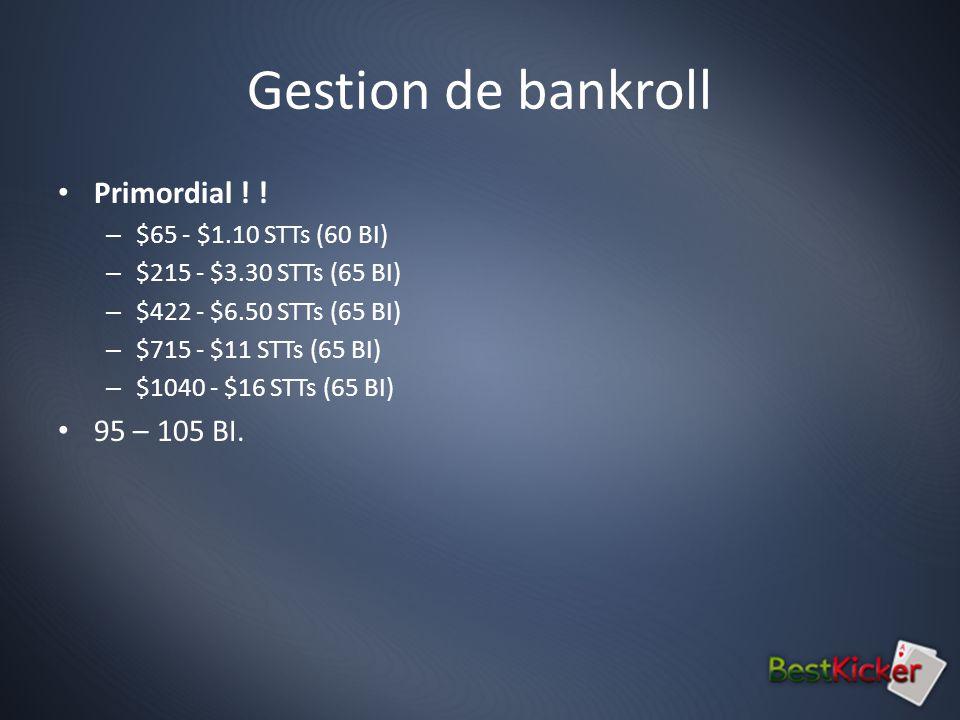 Gestion de bankroll Primordial .