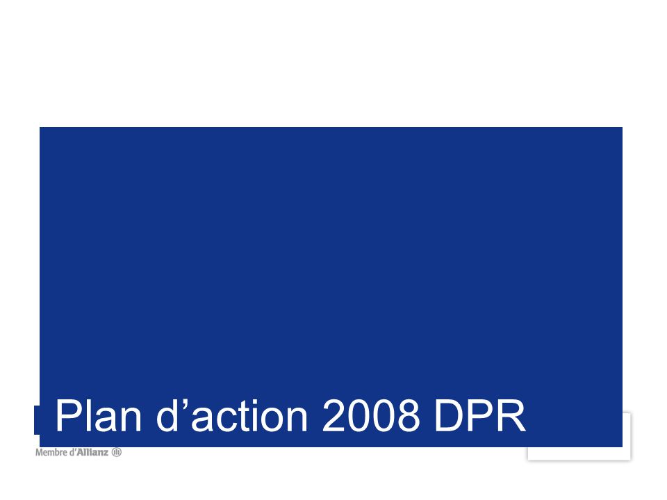 Plan d'action 2008 DPR