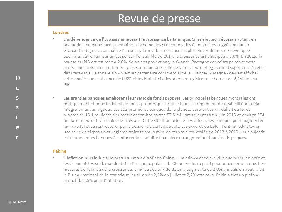 Dossier Faut-il pratiquer le «quantitative easing» en Europe ? 2014 N°15