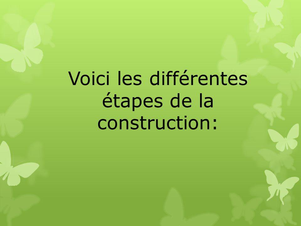 Voici les différentes étapes de la construction: