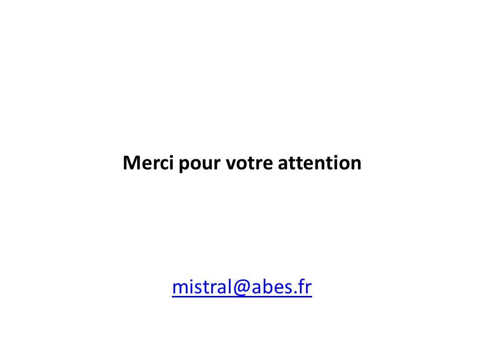 Merci pour votre attention mistral@abes.fr