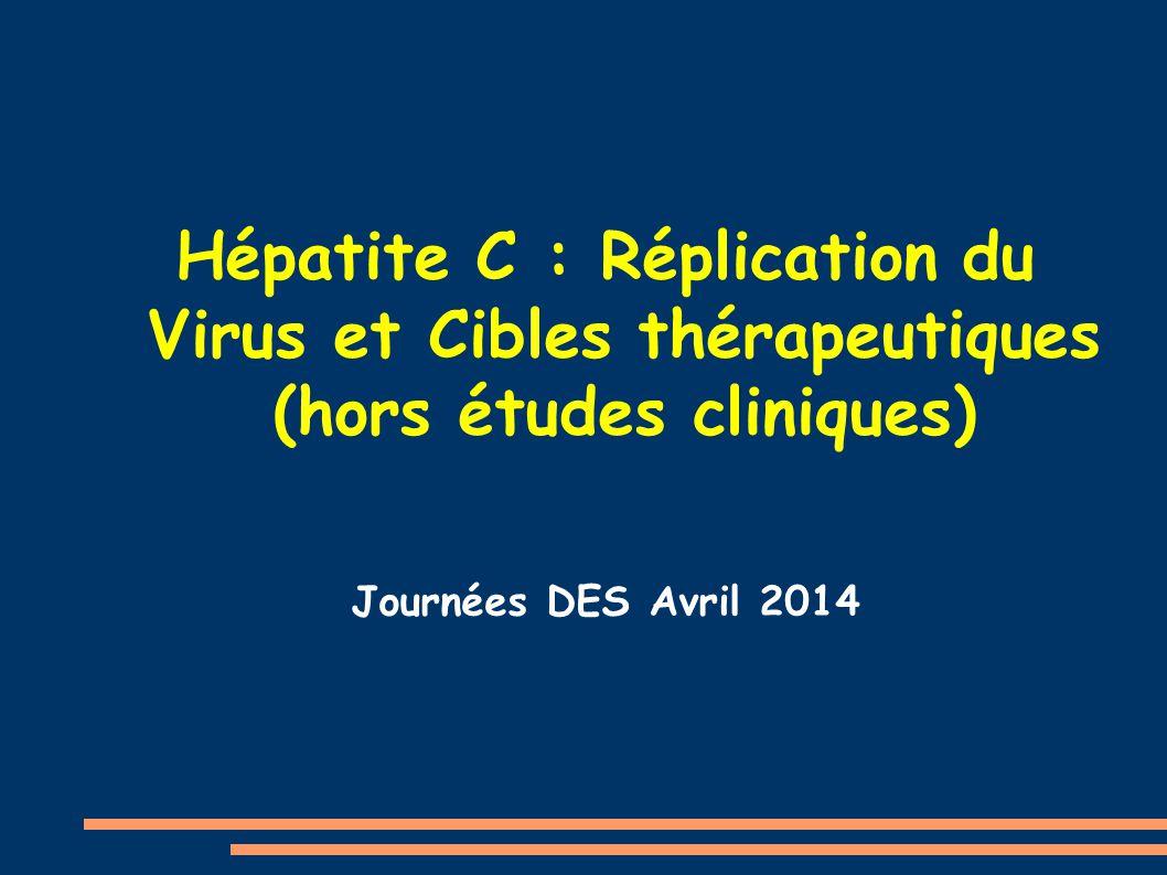 Hépatite C : Réplication du Virus et Cibles thérapeutiques (hors études cliniques) Journées DES Avril 2014