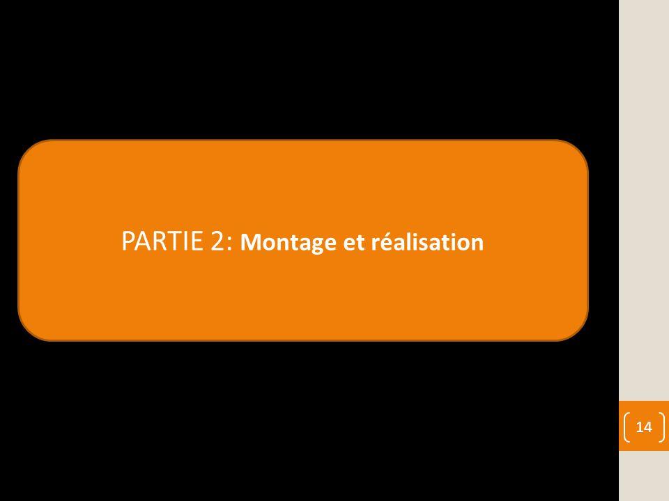PARTIE 2: Montage et réalisation 14