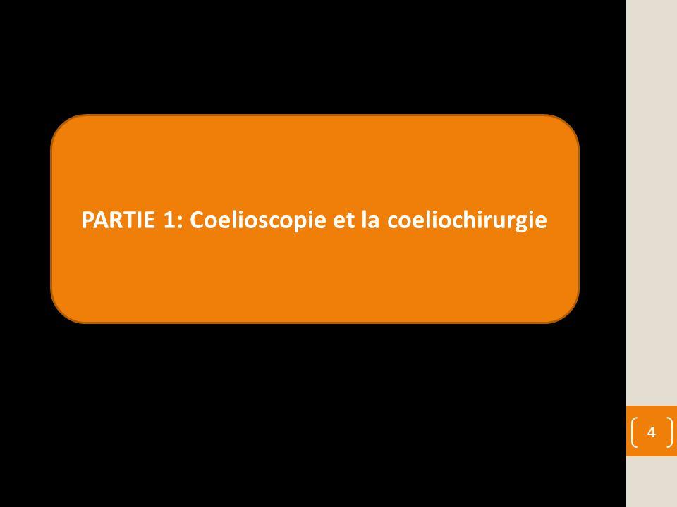 PARTIE 1: Coelioscopie et la coeliochirurgie 4